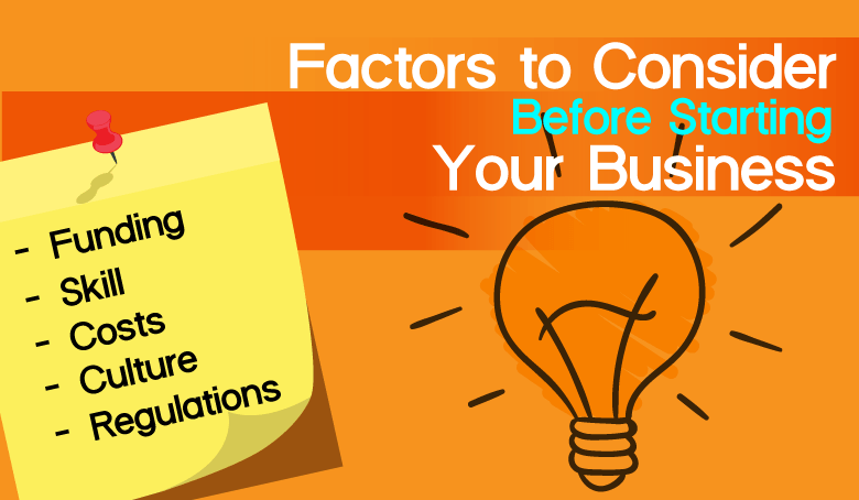factors to consider when starting a business